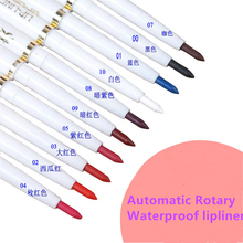 automatic rotary lip liner long-lasting natural brand makeup sexy products lady waterproof beauty 2015 lip pencil