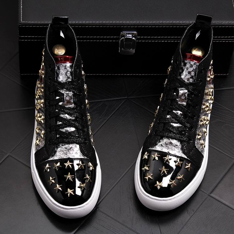 ERRFC Personalized Fashion Men High Top Casual Shoes Luxury Star Rivets Charm Mixed Colors Ankle Boots Man Trending Leisure Shoe 14 Online shopping Bangladesh