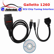 OBDII Galletto 1260 ECU Chip Tuning Interface Galletto 1260 Tuning Scanner EOBD OBD2 Flasher Galletto 1260 High Quality(China)