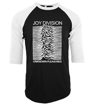 funny Joy Division Unknown Pleasure brand clothing 2017 Men harajuku hip-hop raglan three-quarter sleeve t shirt o-neck camiseta