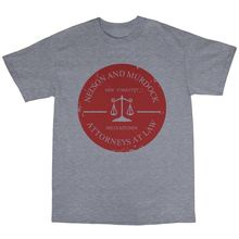 Shirt Design Short Crew Neck Nelson & Murdock Attorneys At Law Cotton Best Friend Shirts For Men(China)