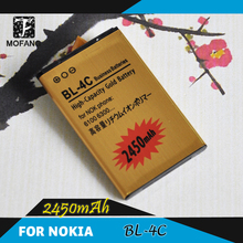 2pcs/1lot BL4C BL-4C Battery Replacement For Nokia 6300 6136 6102i 6170 6260