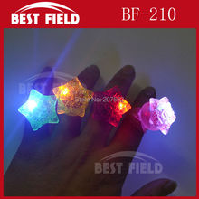 Free Shipping 5pcs/lot 3*4CM led love ring star finger ring Led Rubber Finger Light Beam Ring Torch Party Wedding
