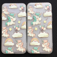 Buy Lovely Cartoon Unicorn Clouds Squishy Cloud Case iPhone 8 7 6 6S Soft Animal Phone Cover iphone 8 7 6 6s Back Capa for $1.73 in AliExpress store