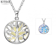 2017 new Glowing Film necklaces Hollow tree of life collier femme bijouterie