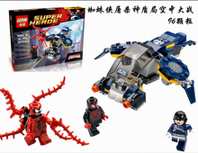 96pcs Marvel SuperHeroes series Carnage SHIELD Sky Attack Model Building Blocks figures Compatible With Legoed(China)
