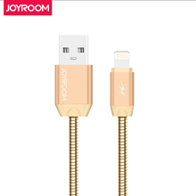 Joyroom Metal USB Data Cable For iPhone 7 ios 100CM Charger Data Cable For iPhone 7 6 6S Plus 5 5S iPad Mobile Phone Cables(China)