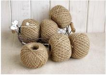 30 METER Rustic Natural Pure Jute Hessian Burlap Twine Tag String Ribbon Cord Natural Rustic Jute Twine Cord String Crafts Tag