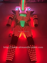 LED robot Costume /Light suits/ LED Robot suits/ The programming controller sets the helmet(China)