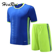 Boys Kids Soccer Jersey Training T-shirts Children Set Running Football Kits Soccer Team Jersey Sports Athletic Suits Polo Shirt