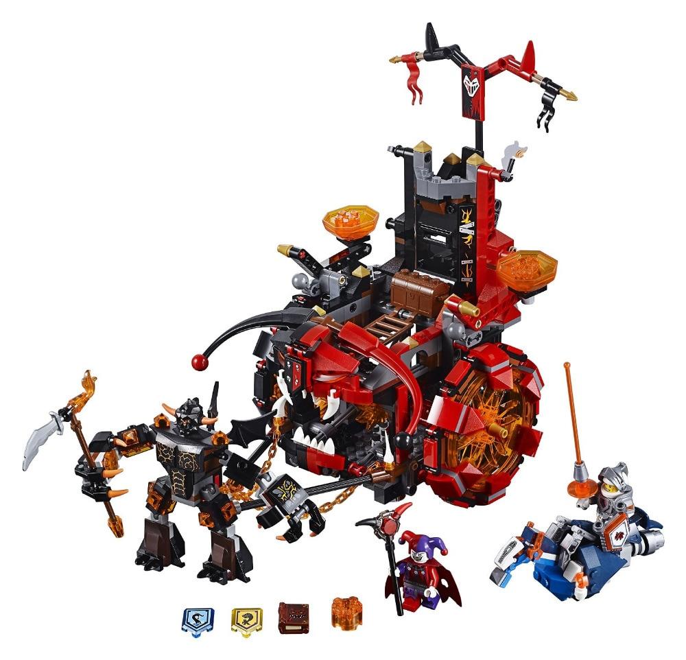 new LEPINES Nexo Knights Jestros Evil Mobile Combination Building Blocks Kits Toys Compatible Nexus brick figure<br>