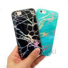 JeKacci Electroplating Bling Chrome Marble Stone Soft TPU Phone Case for iPhone 6s plus 7 7plus 8 X IMD Glossy Full Cover Cases(China)