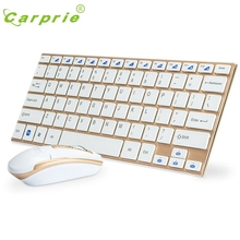 CARPRIE 2.4GHz Mini Slim Metal Wireless Keyboard and Mouse Kit For PC Laptop Mar6 MotherLander(China)