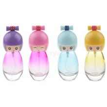 20ml Empty Glass Atomizer Bottle Japanese Doll Design Portable Spray Refillable Bottle Fragrances Container Woman Traveling(China)