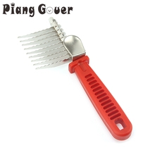 Pet Hair Knot Cutter Remove Comb Grooming Brush Comb Rake Dog Cat Long Needle with Safety Edges(China)