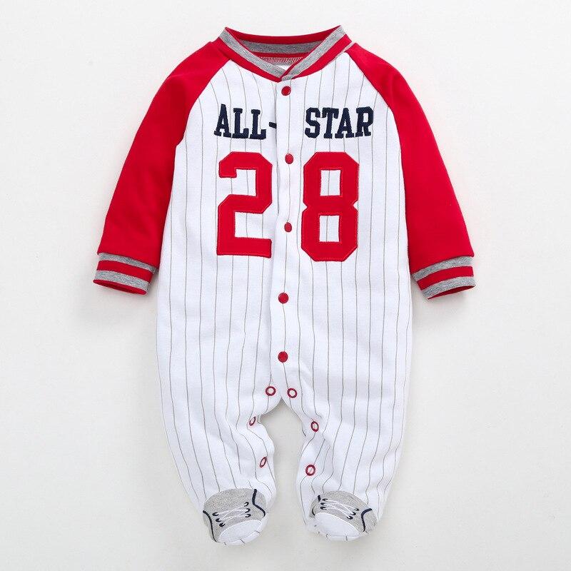 Baby Overalls Baumwolle Strampler Spielanzug Jungen M/ädchen Baseball Winterjacke Outfits