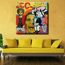 ZZ216 Printing Oil Painting Man Alec Monopoly Graffiti Art Wall Painting Decor Wall Art Picture Room Decor Abstract Painting art(China)