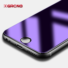 Tempered Glass For iPhone 6 6S plus Screen Protector RED glass film 3D soft edge Full Cover Anti Ultraviolet protection Eye case