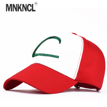 2017 Time-limited Sale Letter Adult Gorras Anime Cospaly Casquette Pokemon Hat Ash Ketchum Visor Caps Costume Play Baseball Cap(China)