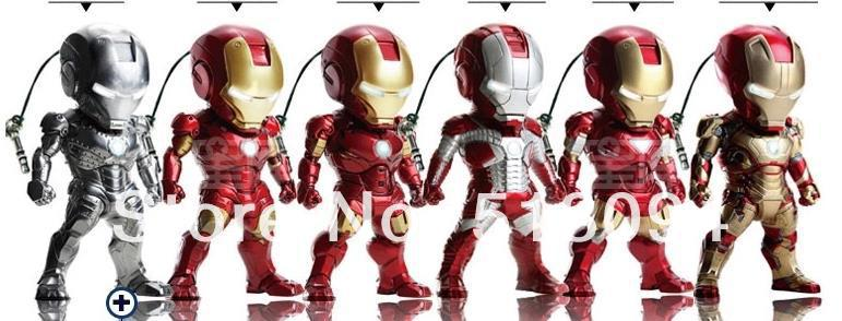 Free Shipping Super Heroes Iron Man SET of 6pcs MK2-6 MK42 Mini Egg Attack Ironman 3 Figure Collection Toy HRFG163<br><br>Aliexpress