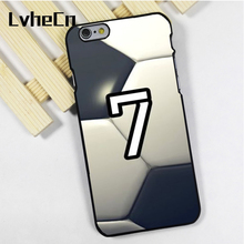 LvheCn phone case cover fit for iPhone 4 4s 5 5s 5c SE 6 6s 7 8 plus X ipod touch 4 5 6 Personalized Number Soccer Football(China)