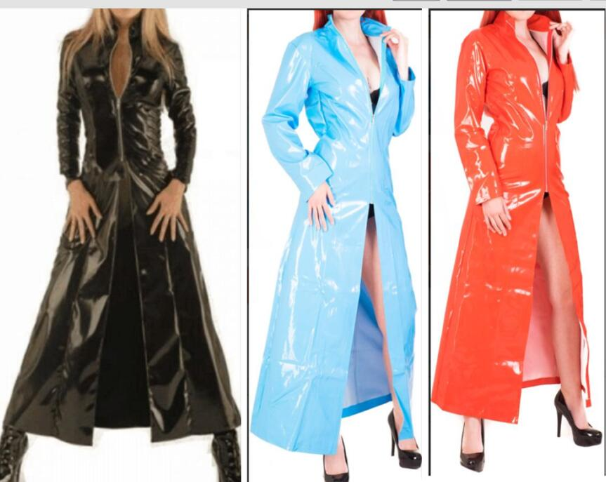 Faux Leather Latex Wetlook PVC Sexy Costumes Sex Uniform bdsm Fetish Dresses Underwear Erotic Club Halloween Cloak costume