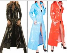 Buy Faux Leather Latex Wetlook PVC Sexy Costumes Sex Uniform bdsm Fetish Dresses Underwear Erotic Club Halloween Cloak costume