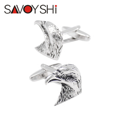 SAVOYSHI Jewelry Eagle Cufflinks for Mens Shirt High Quality Brand Novelty Personality Animal Cufflink Silver 2016 Newest Design