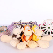 30cm Small Monkey Plush Toys Large Feet Monkeys Pendant Stuffed Animals Dolls Children Kids Baby Birthday Gifts Car Decor(China)