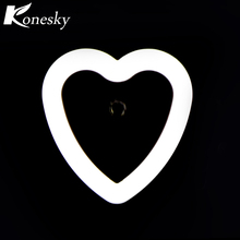 Konesky US Mini LED Night Light Control Auto Sensor Baby Bedroom Lamp Heart White Blue AC110-240V LED Night Light For Child(China)