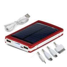 Solar Power Bank 10000mah Portable External solar Battery Charger Dual USB Output Backup Powers Box Powerbank for Mobile Phones