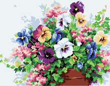 Diy oil painting by numbers flowers  Color  illustration  pictures on canvas  home decoration unique gift craft paint
