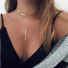 2017 New Fashion Women Choker Necklace Luxurious Multilayer Chain Necklace & Pendant Accessories Club Party Women Necklace