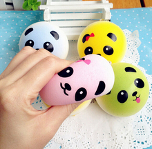 New 2017 Squishy Straps Cell Phone Charms Soft Key Chain Bread Buns Fashion Panda Phone Straps