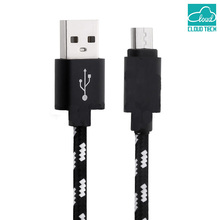Go2linK  Nylon Android Micro USB Fast Charging Cable Cabel Data for Galaxy a5/a3/j5/j7/2016/g4/g3/Smartphone/Mobile Phone