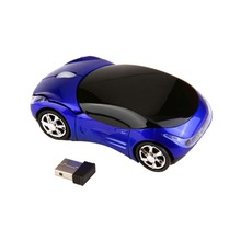 Portable Mini Mouse 1000DPI Wireless Car Optical Mouse Ergonomic Gaming Mouse +USB receiver