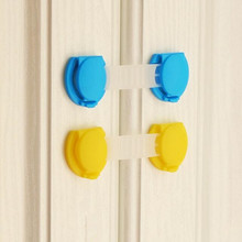 10 Pcs/Lot Baby Child Kids Drawer Door Cabinet ABS Safety Lock Refrigerator Cupboard For Sliding Doors Long Style(China)