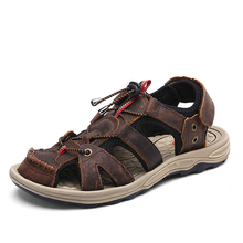 Mens Casual Sandals Quick Dry Summer Beach Shoes Male Hook Light Weight Brown Outdoor Gladiator Sandals Free Shipping 6135(China)