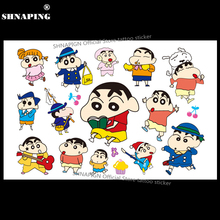 SHNAPIGN Cute Shin Chan Boy Child Temporary Tattoo Body Art Flash Tattoo Stickers 17*10cm Waterproof Henna Tatoo Car Styling(China)