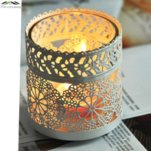 Metal Bird Cage Wedding Candle Holder Lantern Morocco Vintage Small Lanterns For Candles Decorative Cages Moroccan Lamp 003(China)