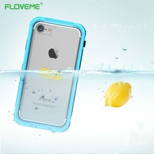 FLOVEME Shockproof Underwater Diving Waterproof Cases Cover For iphone 7 Outdoor Phone Case Cover Water Proof For iPhone7 Plus(China)