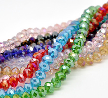 10 Strands Mixed Faceted Crystal Glass Beads 8mm 42cm Fine DIY Jewelry Findings Fit Necklace Bracelet Making For Women