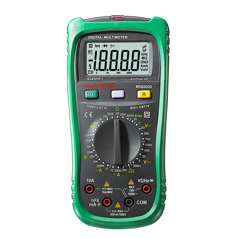 MASTECH MS8260D 4 1/2 Digital Multimeter Non-contact AC/DC Voltage Current Frenquency Tester Detector with Transistor Check<br>