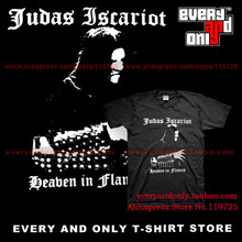 Judas Iscariot Black metal Band Beaben In Flames cotton casual t men's t-shirt tee clothing(China)