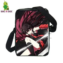 Women Messenger Bags Anime Akame Ga Kill Mini Bags Akame Tatsumi Night Raid Printing Crossbody Shoulder Bag Small Handbags(China)