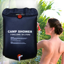 Shower Bag 20L Water Storage Solar Energy Heated Camp Shower Bag PVC Water Bag A2(China)