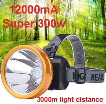 300W light charging LED headlamp wearing  lamp headlamp super bright fishing patrol light outdoor long-range