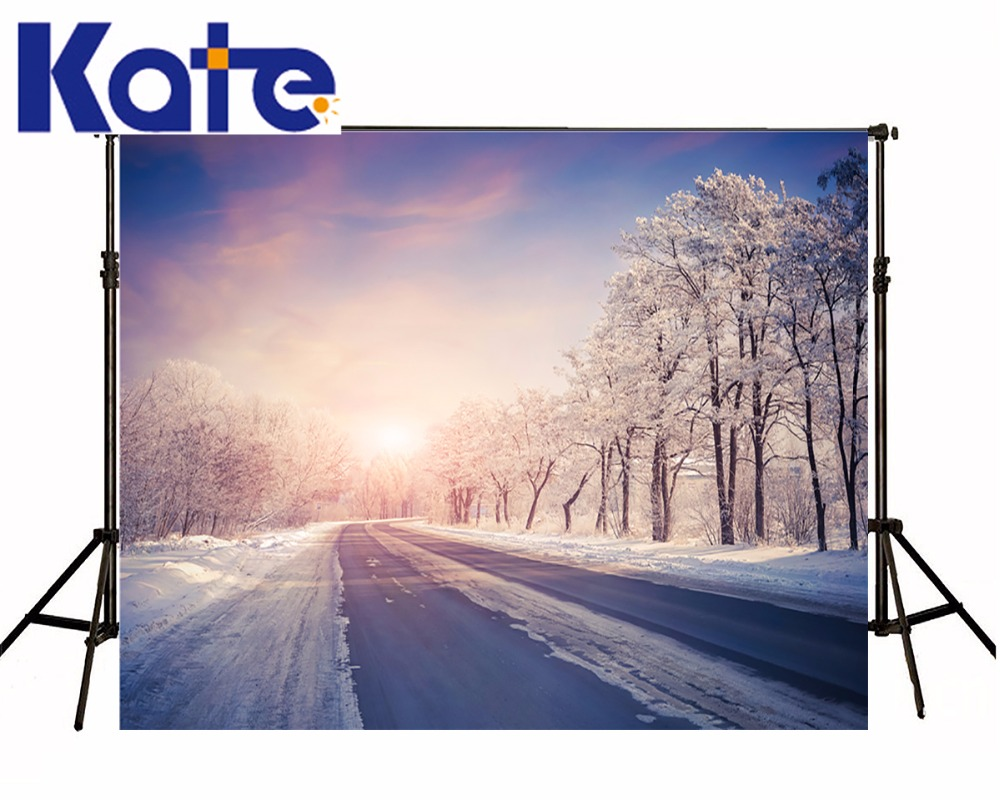 KATE 150x200cm Photography Backdrops Snow Backdrop Winter Background Photography Forest Photography Scenic Backdrops US Delivery<br>