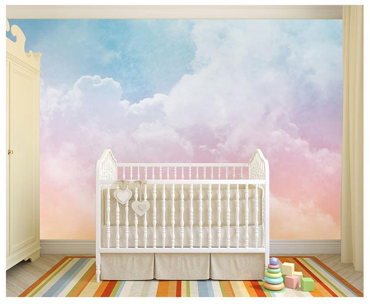 HTB1UNBFfmMmBKNjSZTEq6ysKpXax - Pink Sky Cloud 3d Cartoon Wallpaper Murals for Girls Room