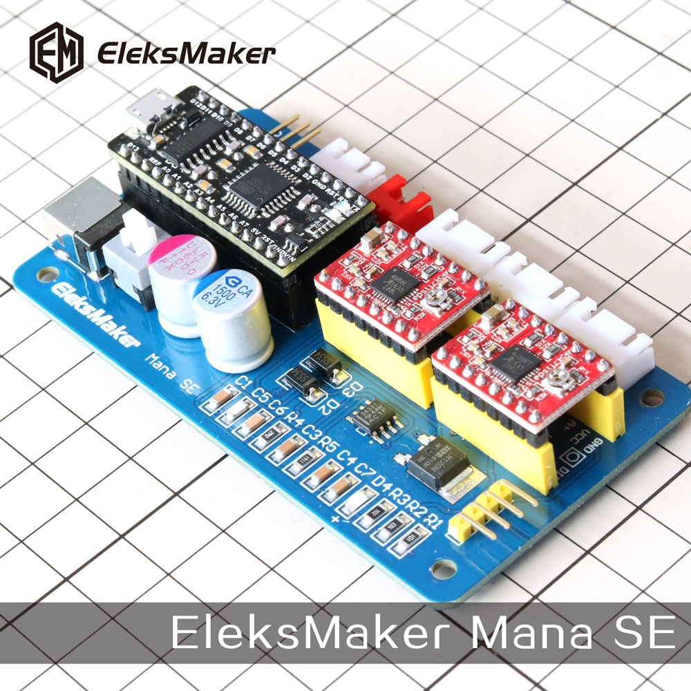 EleksMaker Mana SE 2 Axis stepper motor drive control board for CNC Arduino GRBL/Benbox laser engraving machine<br><br>Aliexpress